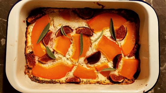 Herbstliches Kürbis-Feigen-Quiche Rezept