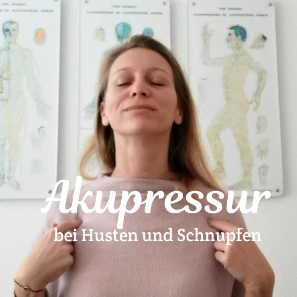 Akupressur-Massage bei Husten und Schnupfen